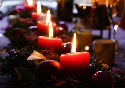 christmas,candles,romance,together time
